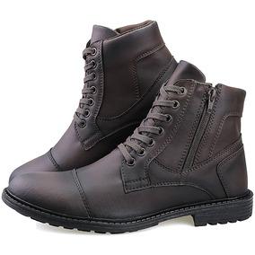 Bota Masculina Sapato Coturno Casual Super Leve C/ziper