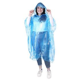 Paquete De 12 Ponchos Impermeables Azules Para Lluvia