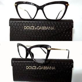 97bb1951fc104 Armação Óculos Grau Feminino Gatinho Dg2018 Diamante Acetato
