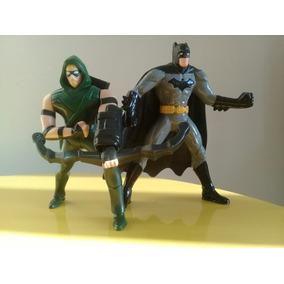 Liga Da Justiça Dc Comics Bonecos Do Batman E Arqueiro Verde