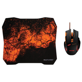 Combo Mouse E Mouse Pad Gamer Mo256 Multilaser