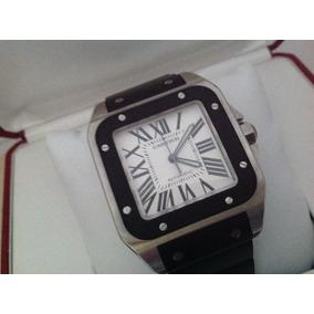 Reloj Cartier Santos 100 Xl Acero Cahucho Full Set