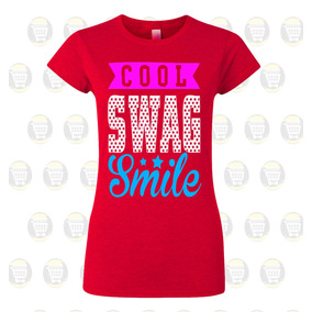 b72a4a08ee086 Camiseta Mujer Personalizada Algodon - Cool Swag Smile