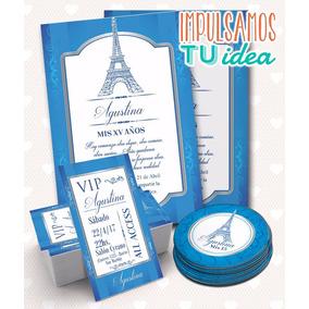 Tarjeta De 15, Invitación De Quince Paris Imprimible