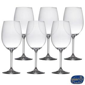 Conj Taças Vinho Em Cristal 580 Ml 06 Peças Bohemia 5251