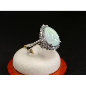 Hermoso Anillo De Plata 925 Con Opalo Y Cristales Af0d6b5