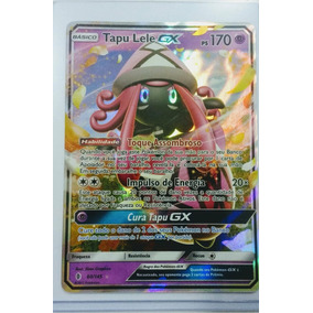 1 Carta Pokemon Tapu Lele Gx + 1 Tapu Lele Gx Full Art