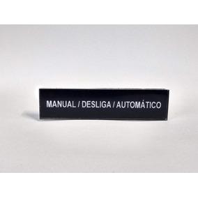 Plaqueta Para Painel Elétrico Em Acrílico Kit 10 Peças 3m