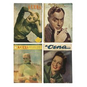 4 Revistas Antigas A Cena Muda - Anos 1945, 1949 E 1950