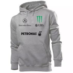 Blusa De Frio Moletom Mercedes Benz Hamilton F1 Casaco 9816fa156163a
