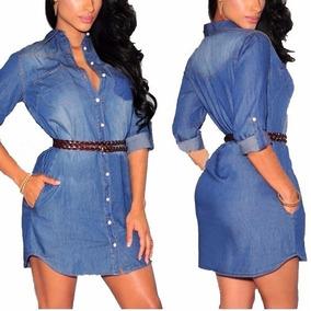 Vestidos jeans feminino a moda do momento