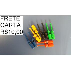 10x Ganchos Clipes Terminais De Teste (frete Carta R$10)