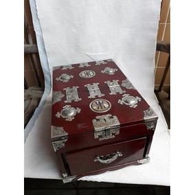Caixa Porta Joias Antigo Oriental Grande Veja 10 Fotos