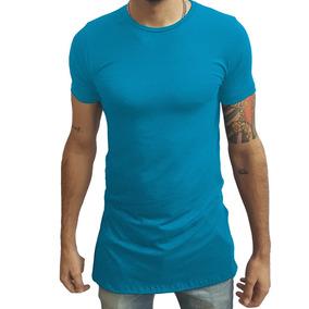 Camisa Oversized Longline Masculina Zhoe Slim Gola Canoa