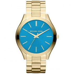 Relogio Michael Kors Azul Turquesa - Relógios De Pulso no Mercado ... 56511ccffd