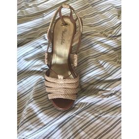 87ab309ccb Sandália Anabela Maria Bonita Exta Feminino - Sapatos no Mercado ...