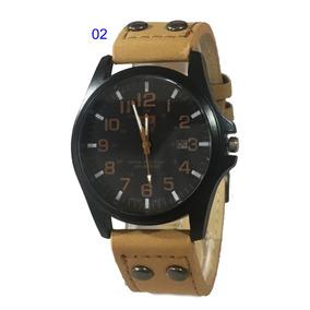 39ec4687331 Relógio Masculino Soki Couro Com Data Lindo Presente Sku149