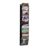 Safco 5579bl Literature Rack - Revistero De Pared Con 10 Co