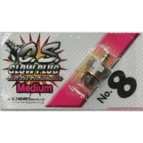 Vela Os Número 8 N8 Nitro Glow Plug Original Motor 2 Tempos