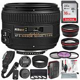 Nikon Af-s Nikkor 50 Mm F / 1.4g Lente Y Paquete Platino Co