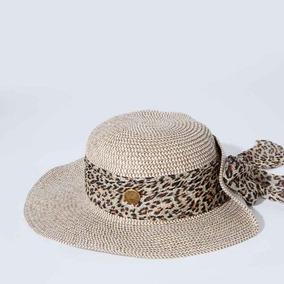 Sombrero De Paja Con Moño Animal Print Playa Para Dama 2019 7c585ccc4a7