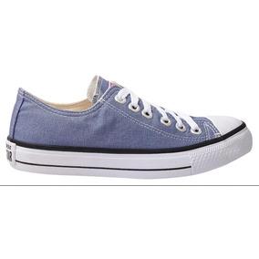 Tênis Converse All Star Cano Baixo Azul Jeans Denim Original
