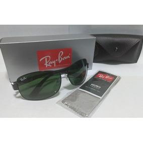 Ray Ban Rb 3379 Polarizado Lente Verde Armação Cromada - Óculos no ... 9fb3d6e6af