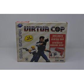 Sega Saturn - Virtua Cop 1 E 2 Com 2 Pistolas - Completos
