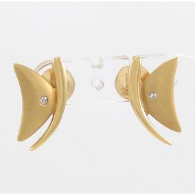 5ba54590fc3 Brinco Vivara Coleção Papillon Borboleta Diamante Ouro 18k. R  849