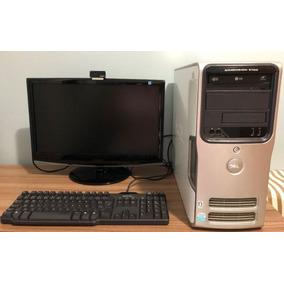 Computador Cpu + Monitor + Teclado + Webcam +caixas De Som
