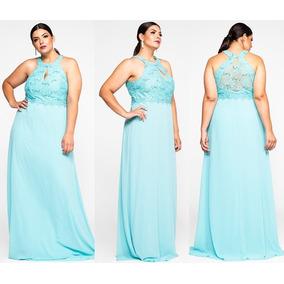 Vestido longo cor azul turquesa