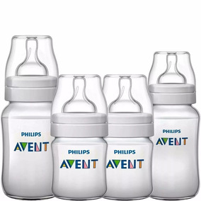 Kit Mamadeira Avent Com 4pc 125/260/330ml Anticólica Classic