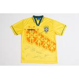 Camisa Da Seleção Brasileira Autografada Camisa Do Tetra
