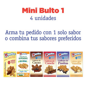 Mini Bulto (4 Unidades): Galletas Sin Azúcar Kseritas