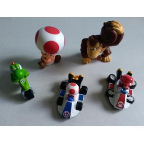 Lote 5 Miniaturas, Figuras Super Mario Bros - Macdonalds