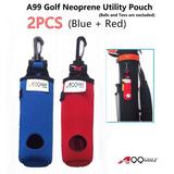 2pcs A99 Golf Utility Pouch Neopreno Golf Balls Holder Tees