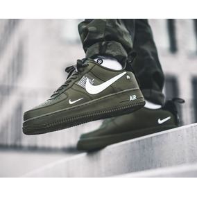 sale retailer a5123 462af Nike Air Force One Utility Olive Sneakers