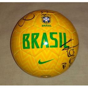 Balon Brasil Firmado Por Ronaldo Ronaldinho Con Certificado 2a75627ae44a8