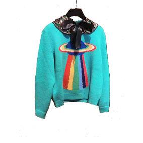 Suéter Tipo Gucci Clásic Planeta Ovni Multicolor Envio Grats