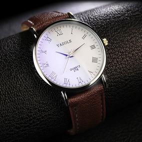 Reloj Hombre Casual De Acero Vidrio Blanco Envio Gratis