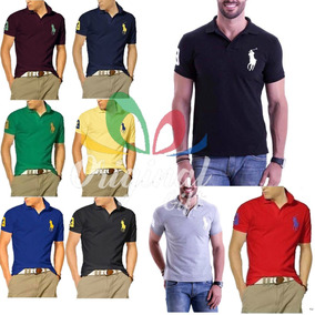 2ef7fc33ed Kit 20 Camisa Polo - Pólos Manga Curta Masculinas no Mercado Livre ...