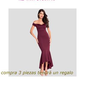 Sexy Mujeres Apagado La Hombro Inmersión Espalda Peplo Vest