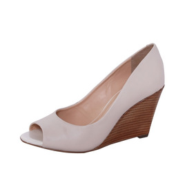 Peep Toe Salto Anabela Conceito Fashion 9340 Branco
