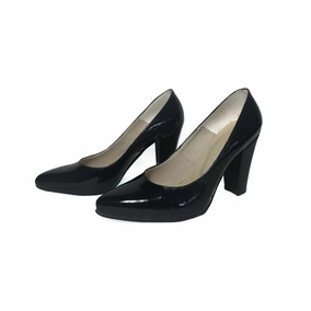 Zapato Stiletto Negro Charol Invierno 2018 Narkishoes