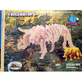 Dinosaurios Rompecabezas Armable Madera Colección Lujo Lego
