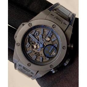 Hublot Big Bang Único 45mm All Black / Blue , S.limitada!!!