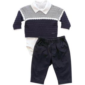 Conjunto Body Com Casaco E Calça Noruega Baby f319d400099