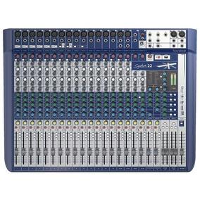 Mesa De Som Soundcraft Signature 22 Canais Mixer Usb Bivolt