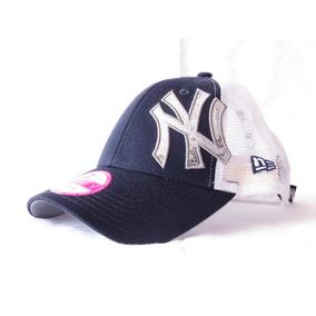 Boné New Era New York Yankees Preto Branco Com Telinha e293196c257