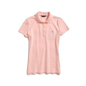 Camisa Polo Feminina Tommy Hilfiger Salmão Tam. P Etiq. Eua ... 16aeca59411be